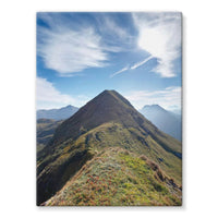 Mountain With Cloudy Sky Stretched Canvas 12X16 Wall Decor