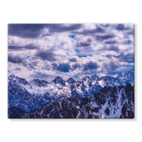 Mountain With Cloudy Sky Stretched Canvas 16X12 Wall Decor