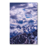 Mountain With Cloudy Sky Stretched Canvas 20X30 Wall Decor