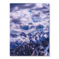 Mountain With Cloudy Sky Stretched Canvas 24X32 Wall Decor