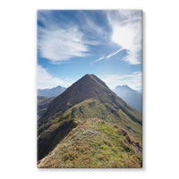 Mountain With Cloudy Sky Stretched Canvas 24X36 Wall Decor