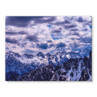 Mountain With Cloudy Sky Stretched Canvas 32X24 Wall Decor