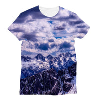 Mountain With Cloudy Sky Sublimation T-Shirt S Apparel