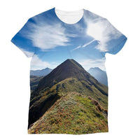 Mountain With Cloudy Sky Sublimation T-Shirt Xs Apparel