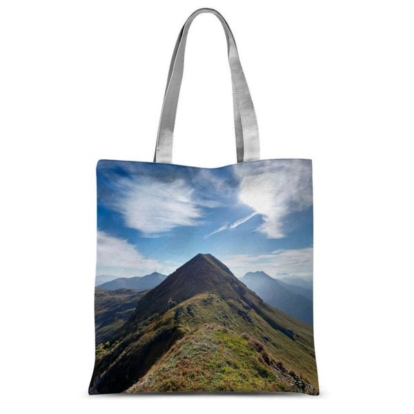 Mountain With Cloudy Sky Sublimation Tote Bag 15X16.5 Accessories