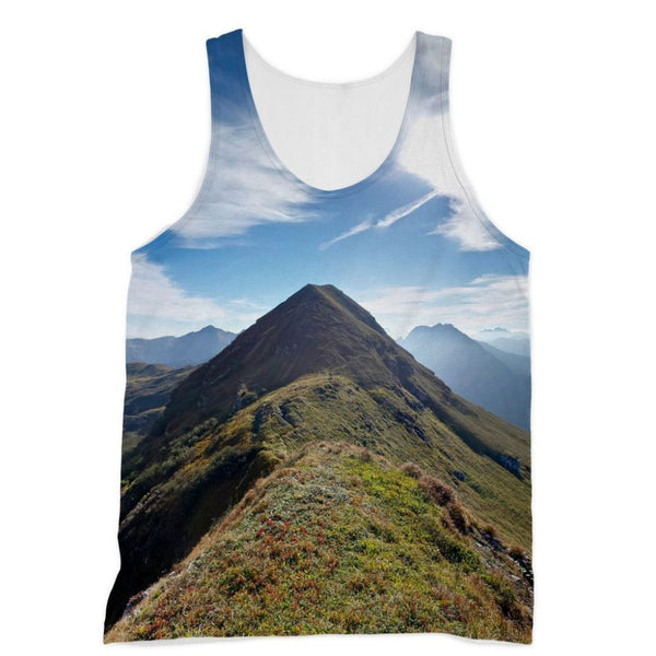 Mountain With Cloudy Sky Sublimation Vest Xs Apparel