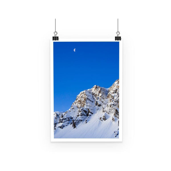 Mountain With Snow View Poster A3 Wall Decor