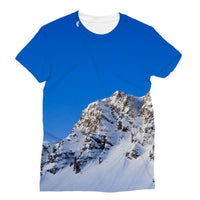 Mountain With Snow View Sublimation T-Shirt S Apparel