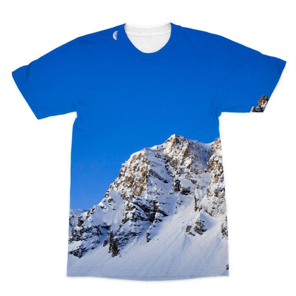 Mountain With Snow View Sublimation T-Shirt Xs Apparel