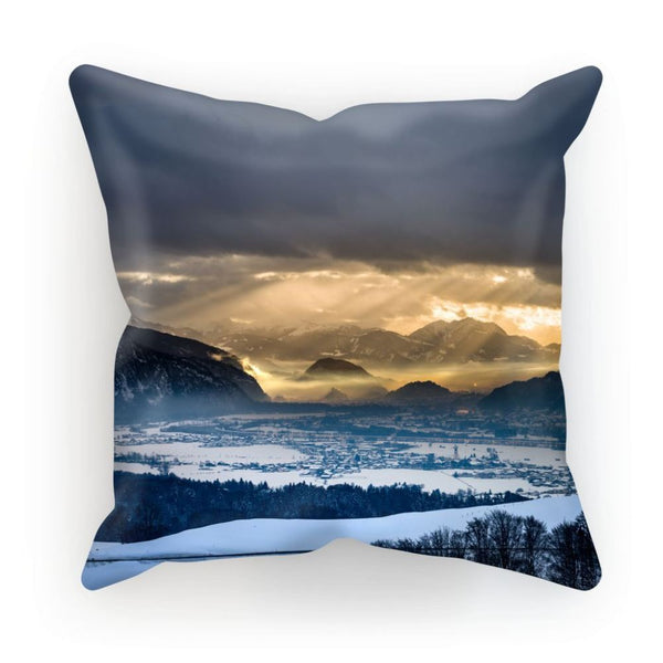 Mountains Covered With Ice Cushion Linen / 12X12 Homeware