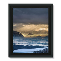 Mountains Covered With Ice Framed Eco-Canvas 11X14 Wall Decor