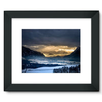 Mountains Covered With Ice Framed Fine Art Print 16X12 / Black Wall Decor