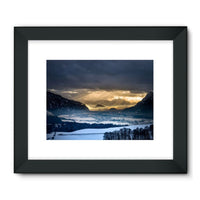 Mountains Covered With Ice Framed Fine Art Print 24X18 / Black Wall Decor
