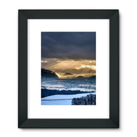 Mountains Covered With Ice Framed Fine Art Print 24X32 / Black Wall Decor