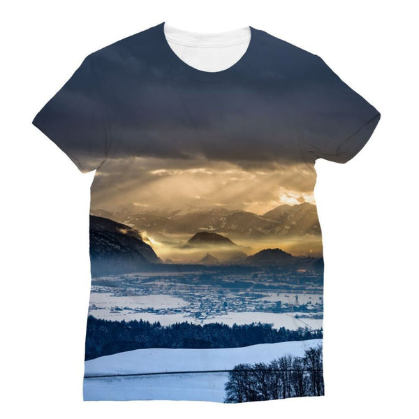 Mountains Covered With Ice Sublimation T-Shirt Xs Apparel
