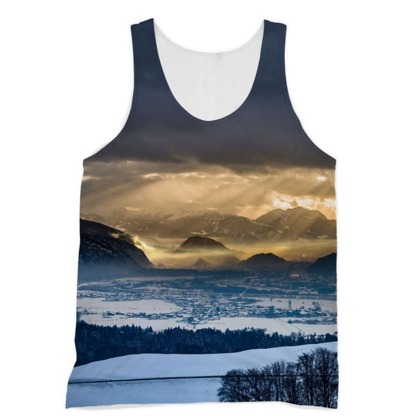 Mountains Covered With Ice Sublimation Vest Xs Apparel