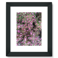 Multi Color Zigzag Framed Fine Art Print 12X16 / Black Wall Decor