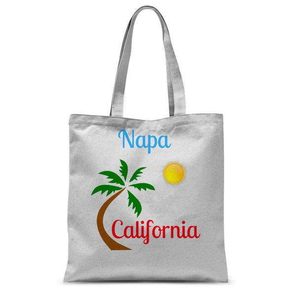 Napa California Palm Sun Sublimation Tote Bag 15X16.5 Accessories