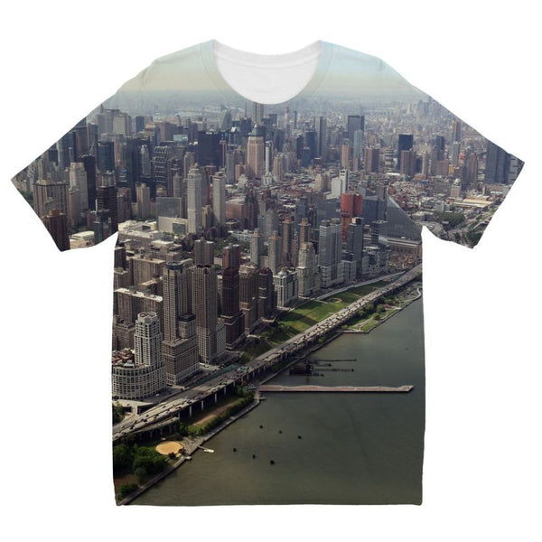 New York City Near The River Kids Sublimation T-Shirt 3-4 Years Apparel