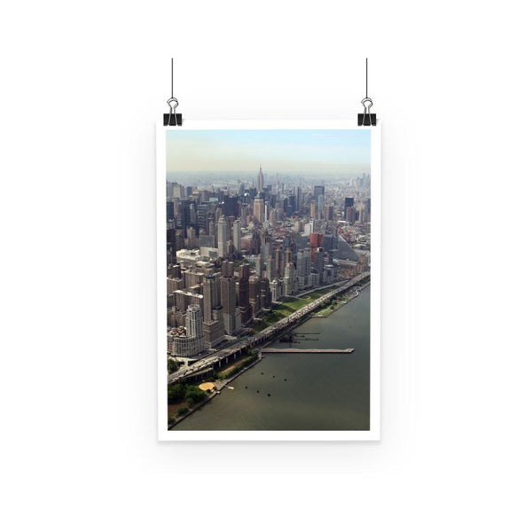 New York City Near The River Poster A3 Wall Decor