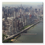 New York City Near The River Stretched Canvas 10X10 Wall Decor