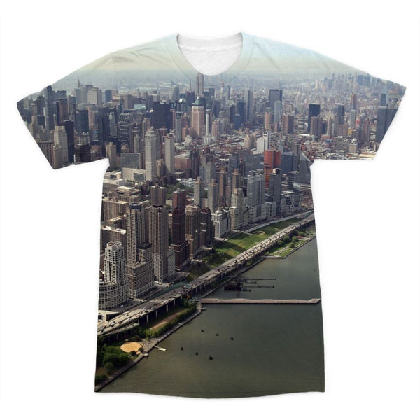 New York City Near The River Sublimation T-Shirt Xs Apparel