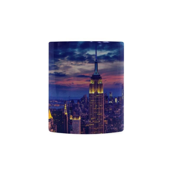 New York Cityscape At Night White Mug (11Oz)