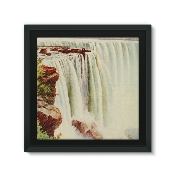 Niagara Falls Framed Eco-Canvas 10X10 Wall Decor