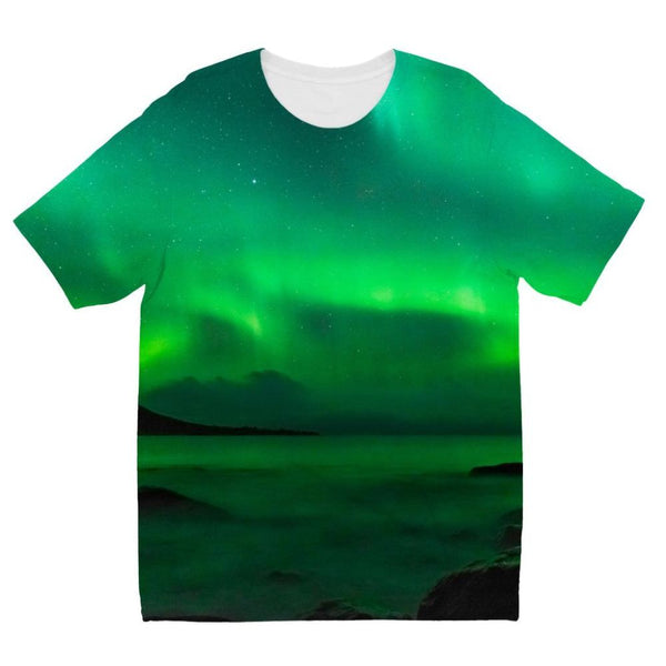 Northern Lights In Iceland Kids Sublimation T-Shirt 3-4 Years Apparel