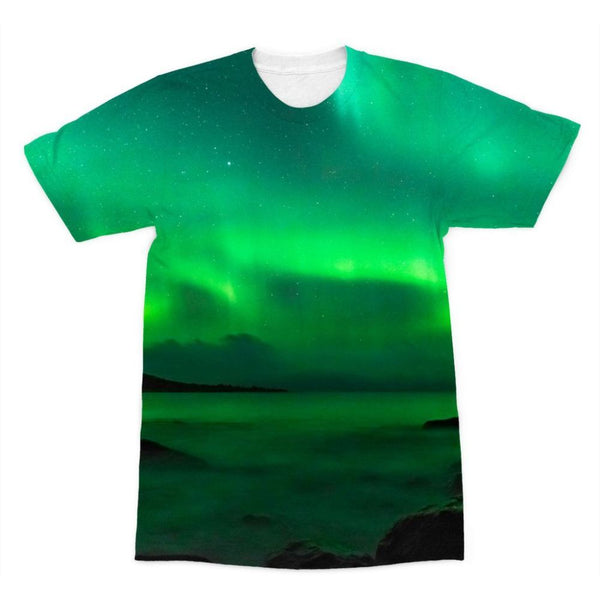 Northern Lights In Iceland Sublimation T-Shirt Xs Apparel