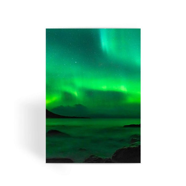 Northern Lights In Icland Greeting Card 1 Prints