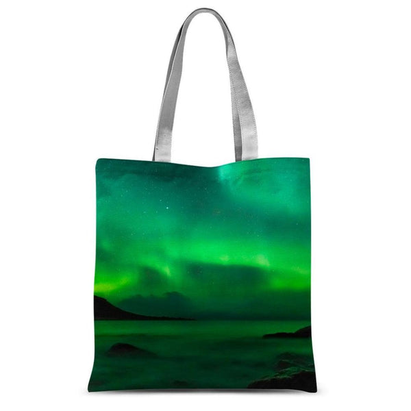 Northern Lights In Icland Sublimation Tote Bag 15X16.5 Accessories