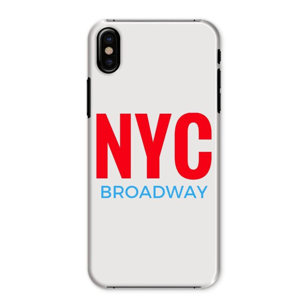 Nyc Broadway Phone Case Iphone X / Snap Gloss & Tablet Cases