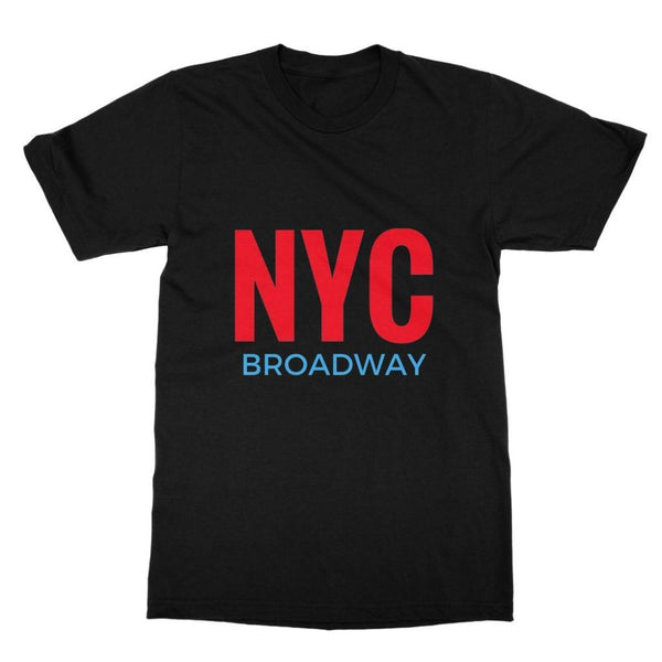 Nyc Broadway Softstyle Ringspun T-Shirt S / Black Apparel