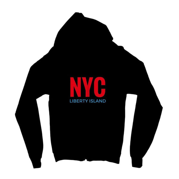 Nyc Liberty Island Kids Zip Hoodie 3-4 Years / Jet Black Apparel