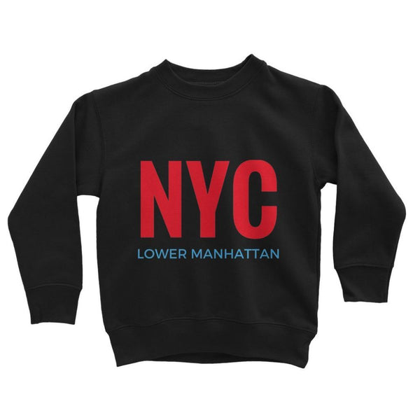 Nyc Lower Manhattan Kids Sweatshirt 3-4 Years / Jet Black Apparel