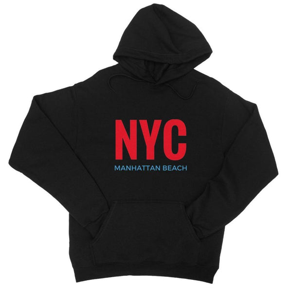 Nyc Manhattan Beach College Hoodie Xs / Black Apparel