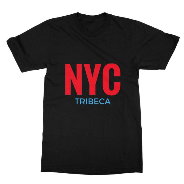 Nyc Tribeca Softstyle Ringspun T-Shirt S / Black Apparel