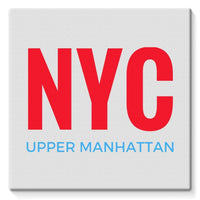 Nyc Upper Manhattan Stretched Eco-Canvas 10X10 Wall Decor