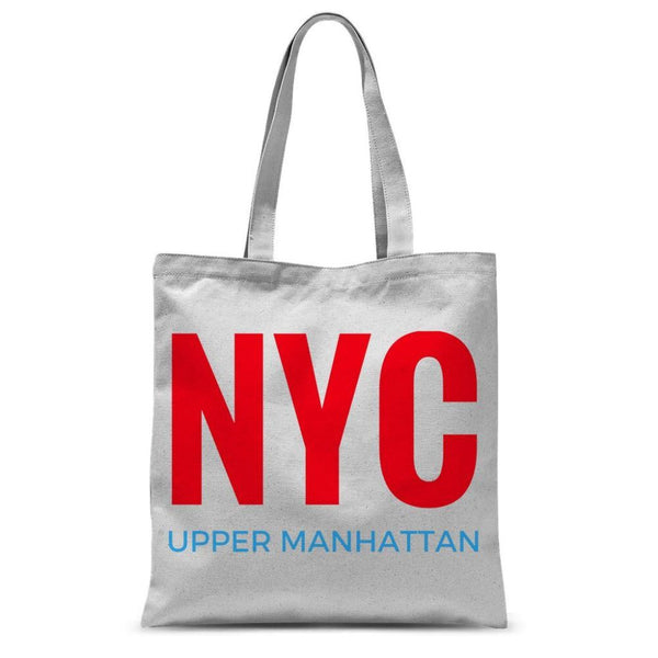 Nyc Upper Manhattan Sublimation Tote Bag 15X16.5 Accessories