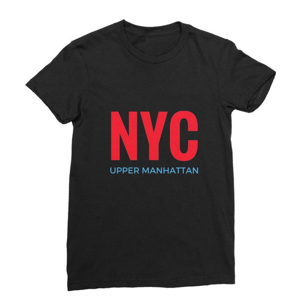 Nyc Upper Manhattan Womens Fine Jersey T-Shirt S / Black Apparel