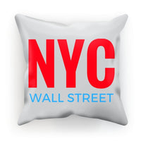 Nyc Wall Street Cushion Canvas / 18X18 Homeware