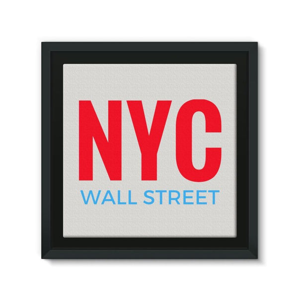 Nyc Wall Street Framed Canvas 12X12 Decor