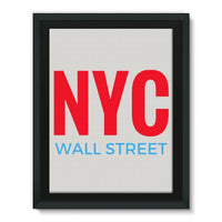 Nyc Wall Street Framed Canvas 12X16 Decor