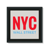 Nyc Wall Street Framed Canvas 14X14 Decor