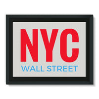 Nyc Wall Street Framed Canvas 16X12 Decor