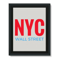 Nyc Wall Street Framed Canvas 18X24 Decor