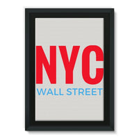 Nyc Wall Street Framed Canvas 24X36 Decor