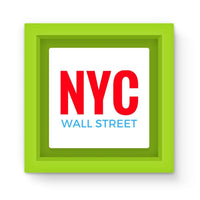 Nyc Wall Street Magnet Frame Green Homeware