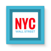 Nyc Wall Street Magnet Frame Light Blue Homeware